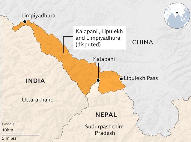 nepal new map