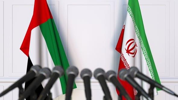 iran uae flags