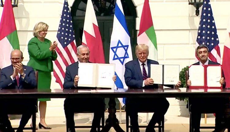 uae israel bahrain and us sign abraham accord