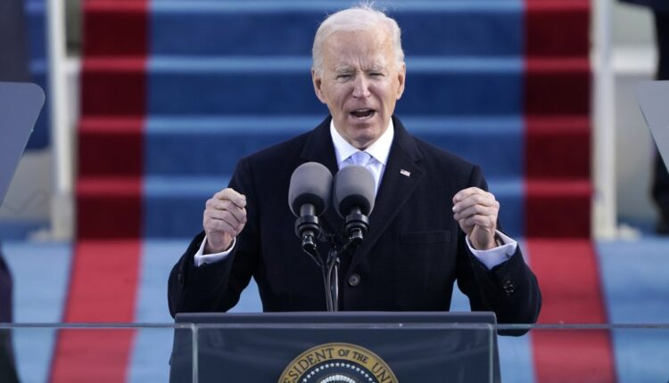 President Joe Biden Speaks During The 59th Presidential Inauguration At The U.s. Capitol In Washington