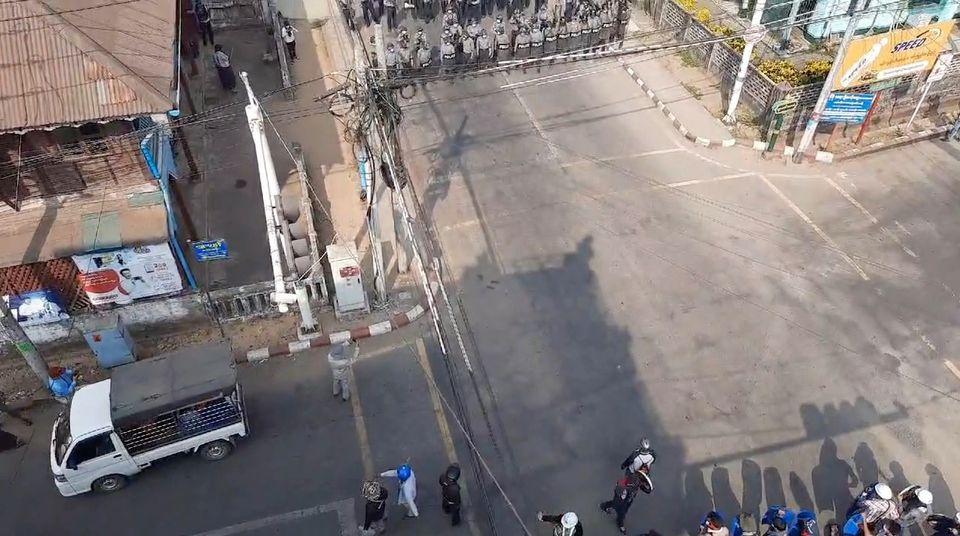 myanmar police launch most extensive crackdown dubai news tv