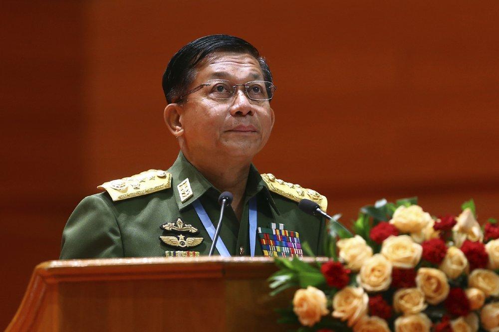 Myanmar's Army Commander In Chief Senior Gen. Min Aung Hlaing