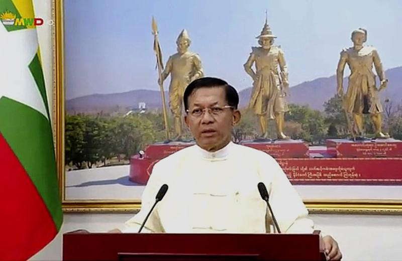100 days in power, myanmar junta holds pretense of control