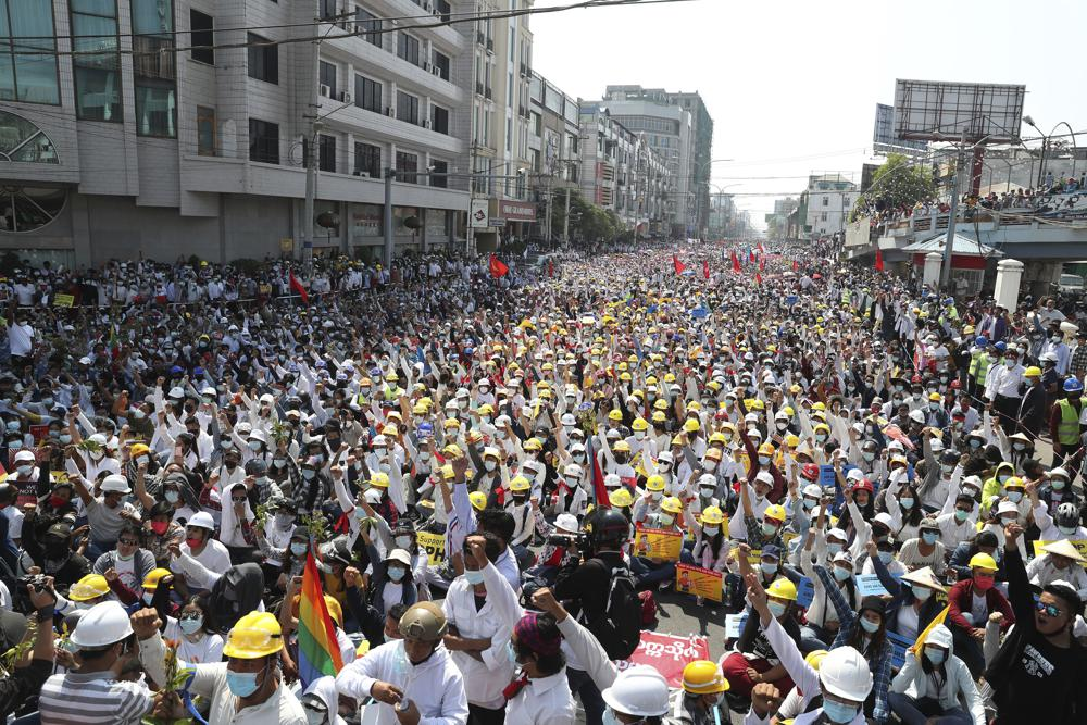 anti coup protest in myanmar