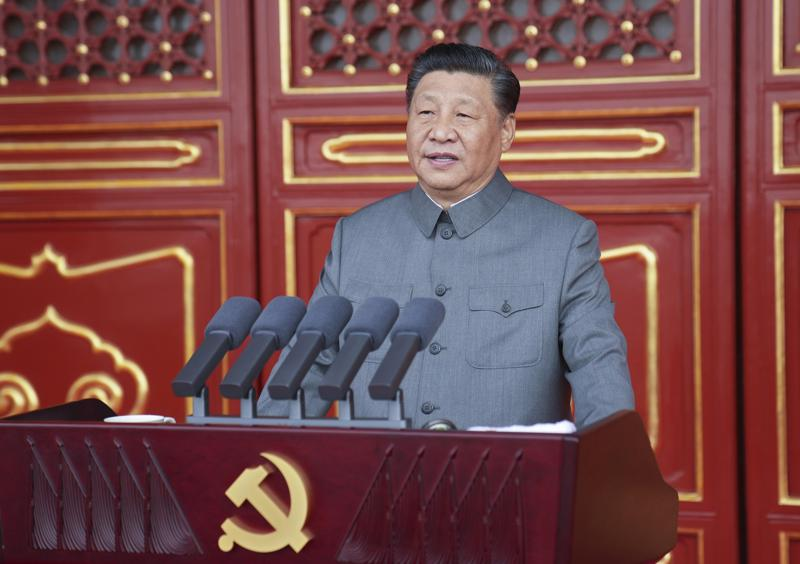 at communist party centenary, xi says china won't be bullied