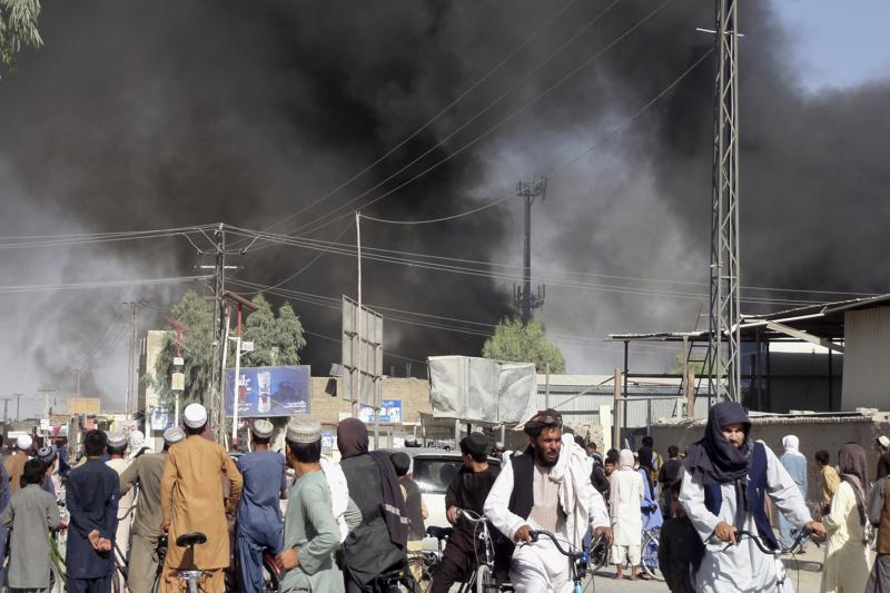 taliban sweep across afghanistan's south; take 4 more cities
