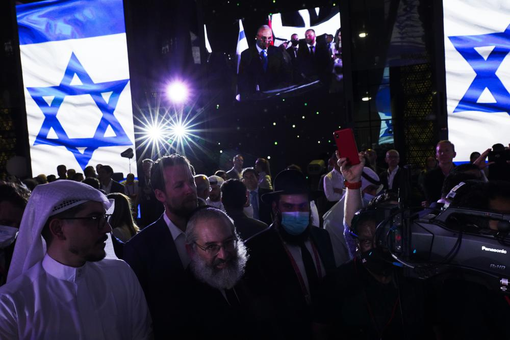 israel opens its pavilion with big bash at dubai's expo 2020